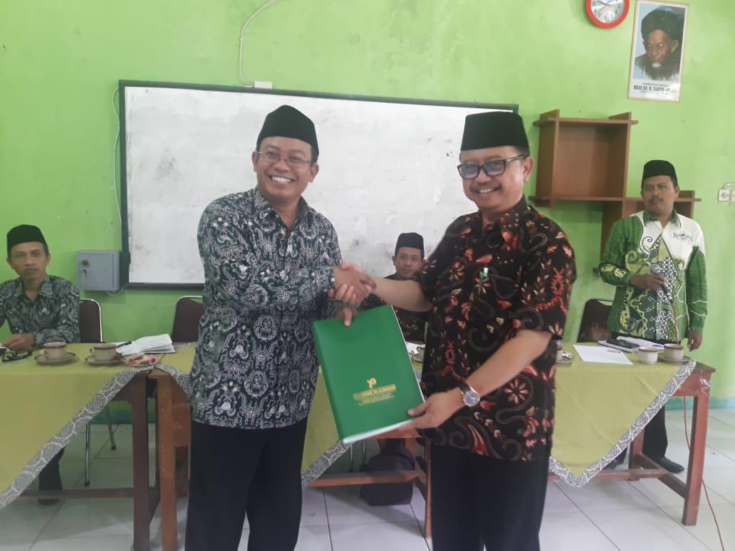 Serah terima LPJ YPPM NU Ajibarang masa khidmat 2013 2018