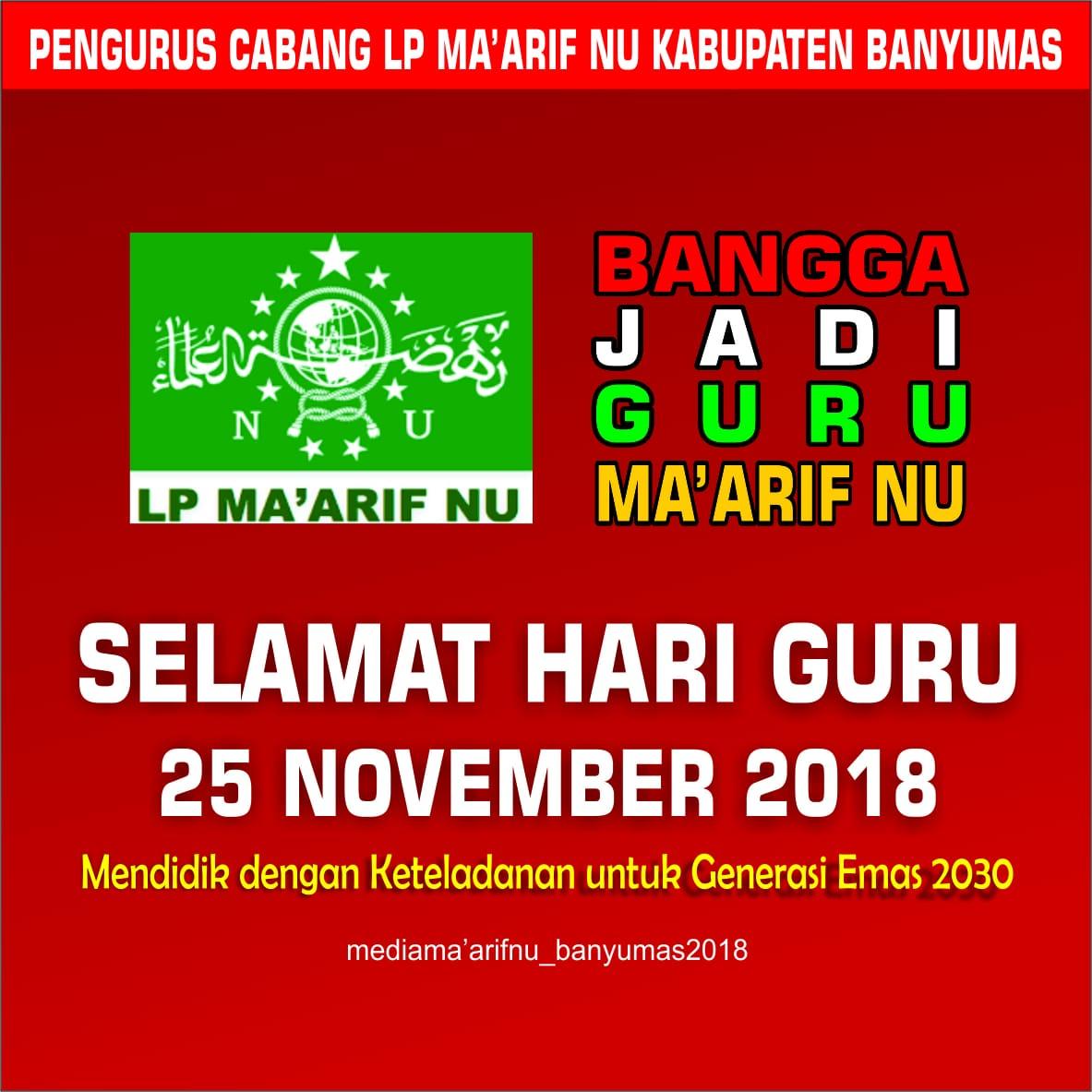 Selamat Hari Guru 25 November 2018