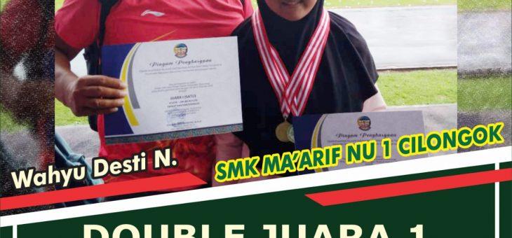 Siswi SMK Ma'arif NU 1 Cilongok Sabet Dua Emas POPDA 2019